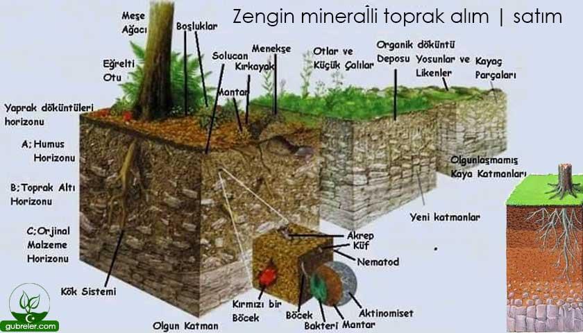 Zengin mineralli toprak alım | satım